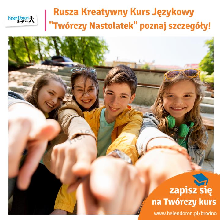 """Wakacyjny Kreatywny Kurs Językowy """"Twórczy Nastolatek"""" w Helen Doron Warszawa-Bródno"""