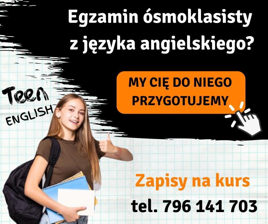 Kurs przygotowujący do Egzaminu Ósmoklasisty z angielskiego