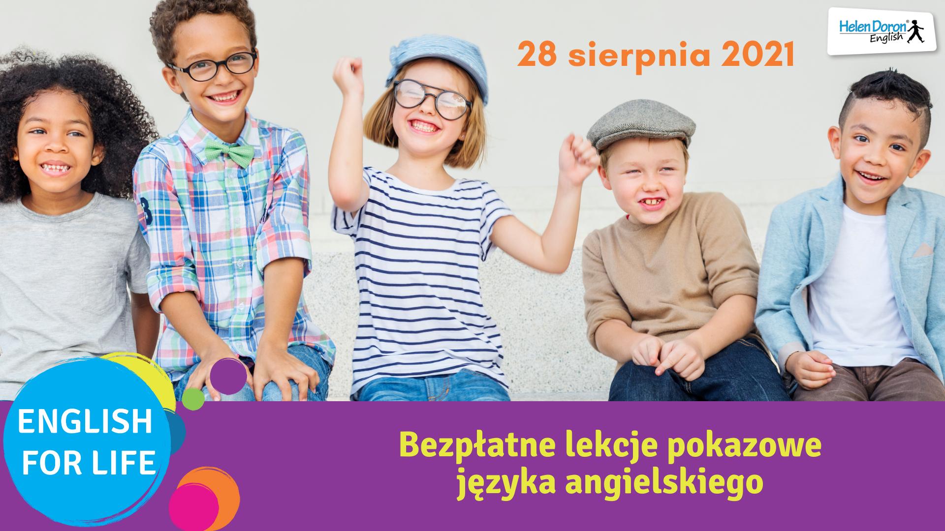 Bezpłatne lekcje pokazowe – 28 sierpnia 2021